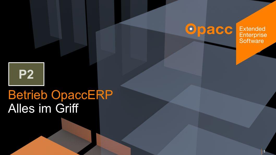 Opacc, CH-Kriens/LucerneOpaccConnect 201430.10.2014 Betrieb OpaccERP Alles im Griff 1 P2