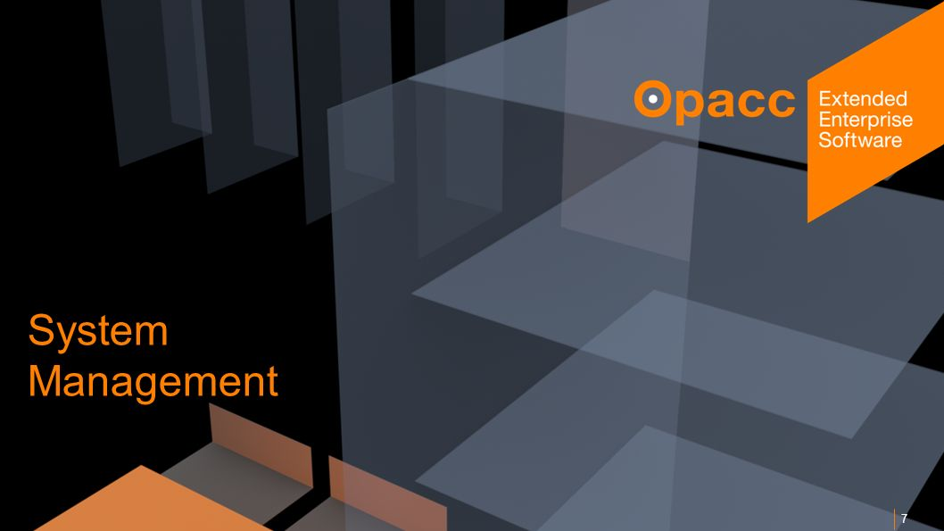 Opacc, CH-Kriens/LucerneOpaccConnect 201430.10.2014 8 Betrieb OpaccERP SQL-Dumps als Basis für die Datensicherung.