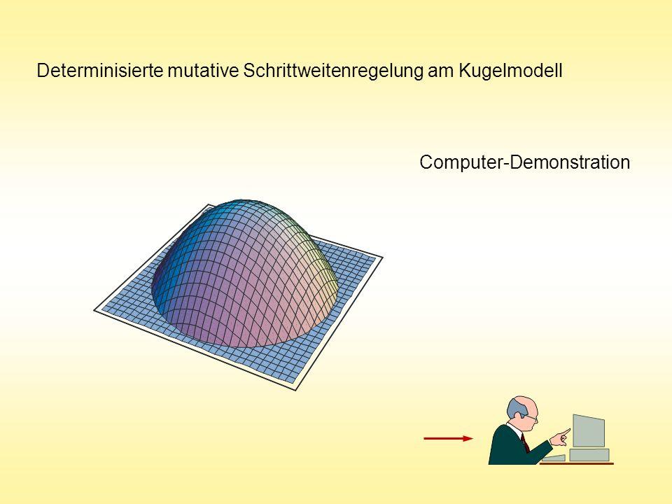 Determinisierte mutative Schrittweitenregelung am Kugelmodell Computer-Demonstration