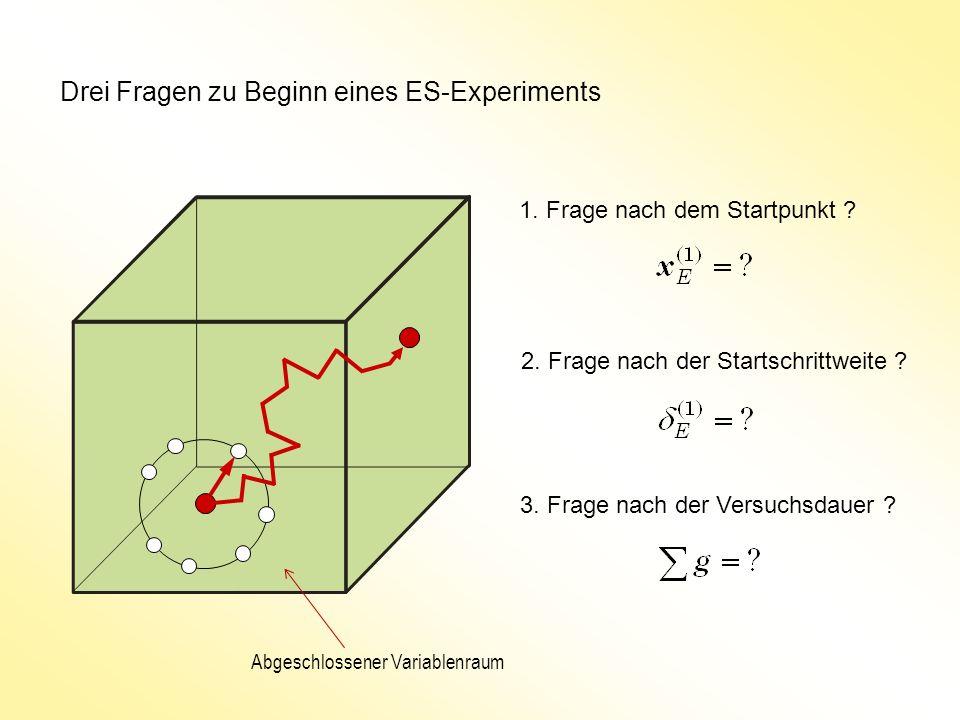 Drei Fragen zu Beginn eines ES-Experiments 1. Frage nach dem Startpunkt .