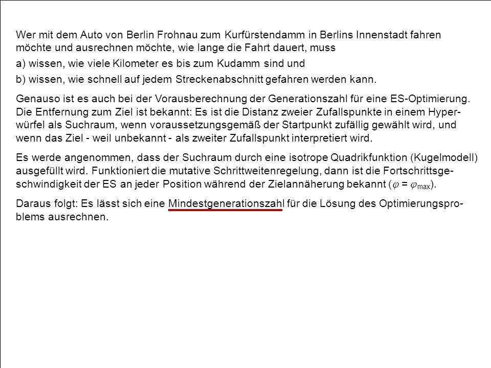 Wer mit dem Auto von Berlin Frohnau zum Kurfürstendamm in Berlins Innenstadt fahren möchte und ausrechnen möchte, wie lange die Fahrt dauert, muss a) wissen, wie viele Kilometer es bis zum Kudamm sind und b) wissen, wie schnell auf jedem Streckenabschnitt gefahren werden kann.