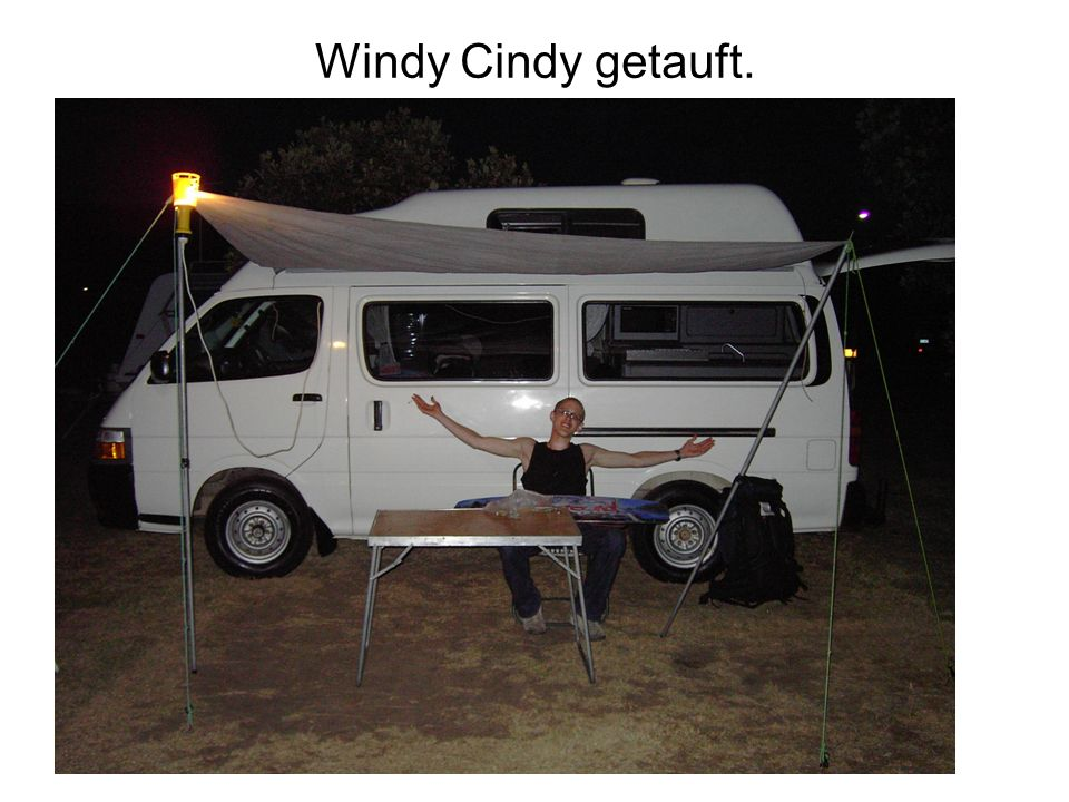 Windy Cindy getauft.