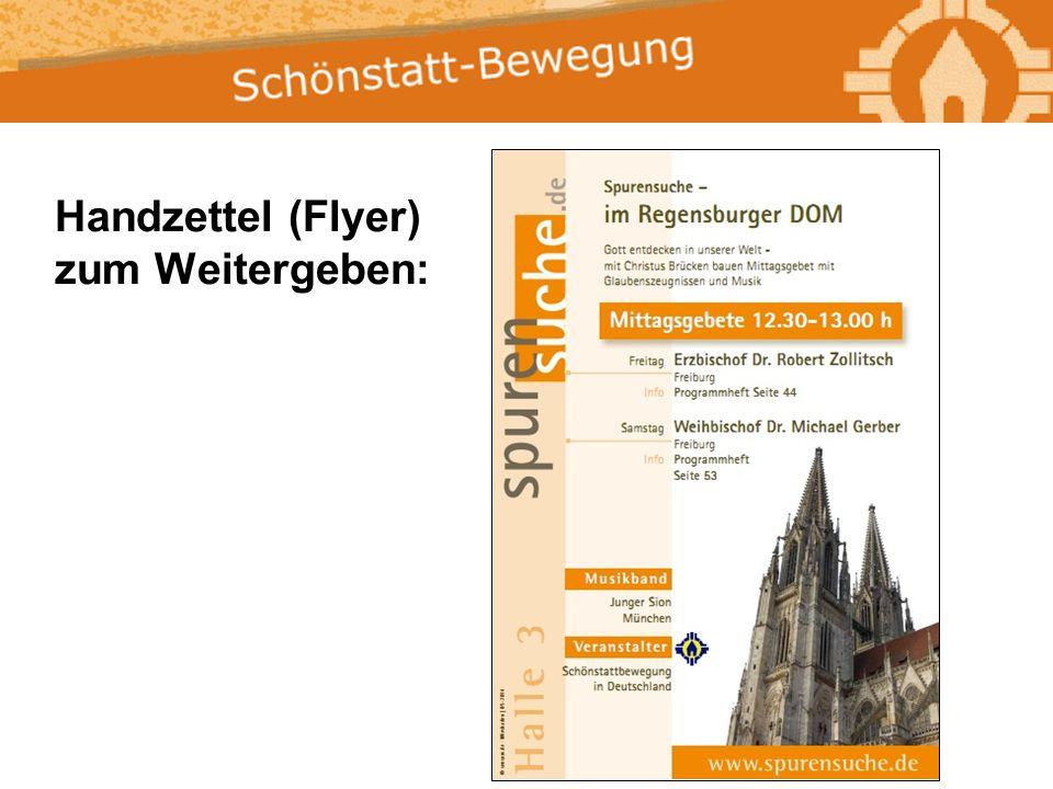 Handzettel (Flyer) zum Weitergeben: