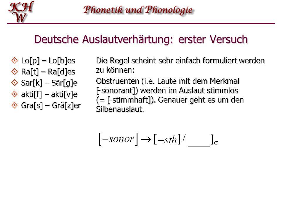 Regelanordnung R1 Tilgung: R2 Lenisierung: mear[x]+esInput: Output: meares R1 Tilgung: R2 Lenisierung: mear[x]+es Output: *mearges mear[ ɣ ]+es Da in