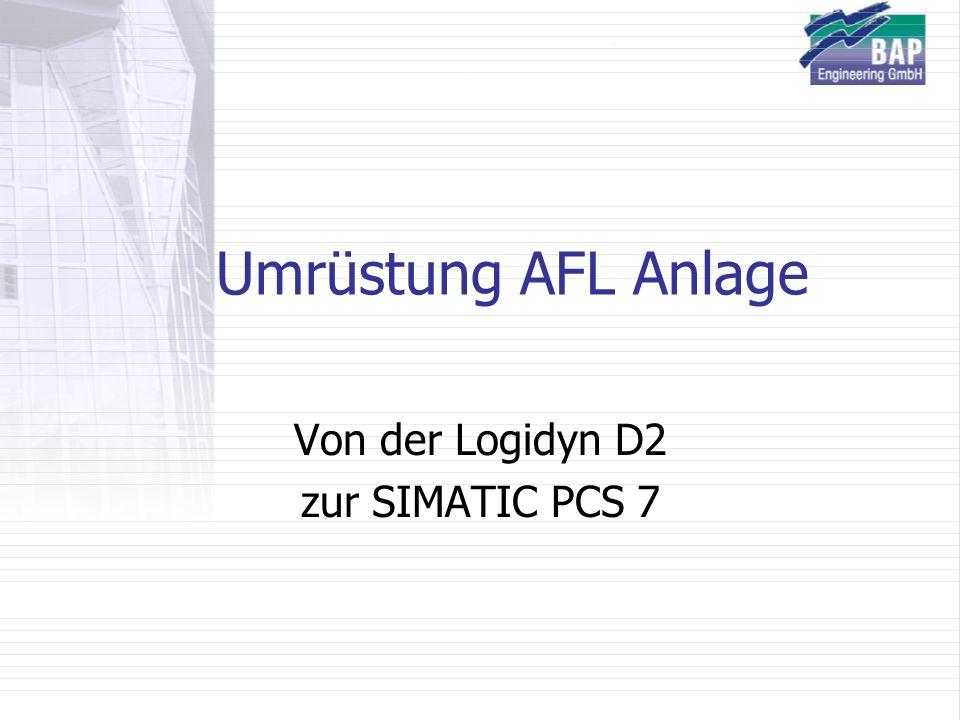 Umrüstung AFL Anlage Von der Logidyn D2 zur SIMATIC PCS 7