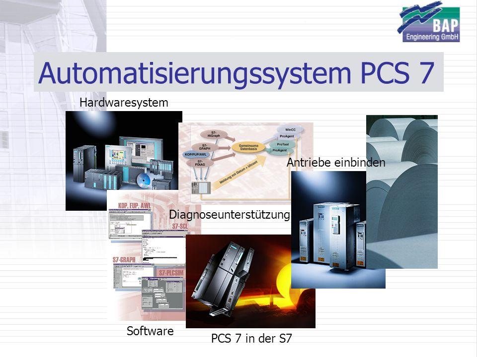 Automatisierungssystem PCS 7 Hardwaresystem Software Diagnoseunterstützung PCS 7 in der S7 Antriebe einbinden