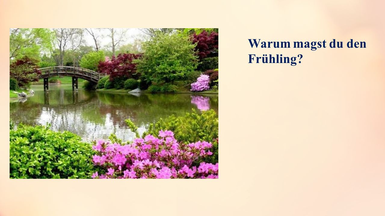 Warum magst du den Frühling?