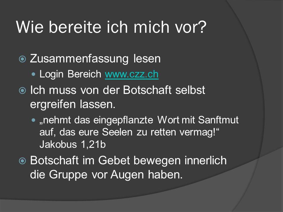 """Wie bereite ich mich vor?  Zusammenfassung lesen Login Bereich www.czz.chwww.czz.ch  Ich muss von der Botschaft selbst ergreifen lassen. """"nehmt das"""