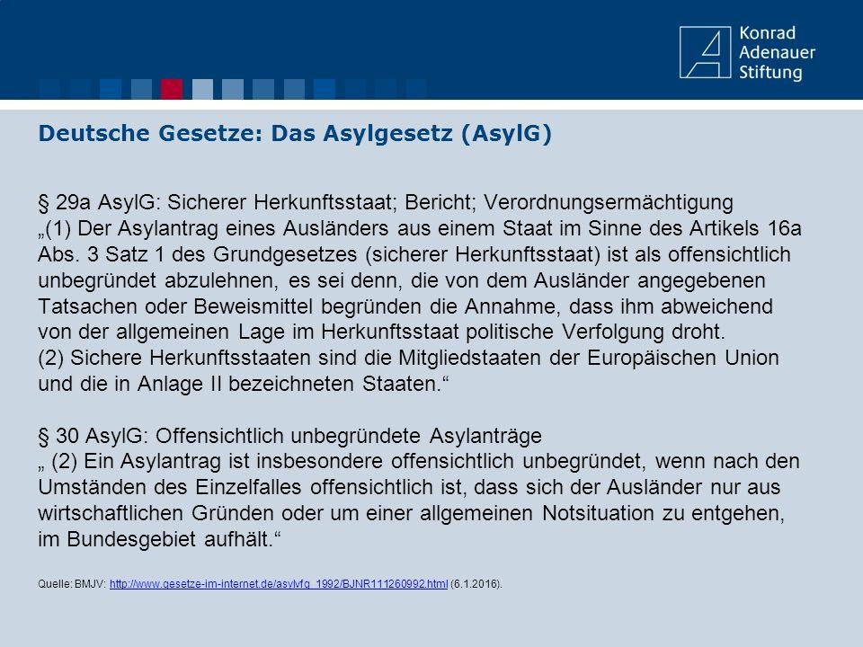 """§ 29a AsylG: Sicherer Herkunftsstaat; Bericht; Verordnungsermächtigung """"(1) Der Asylantrag eines Ausländers aus einem Staat im Sinne des Artikels 16a"""