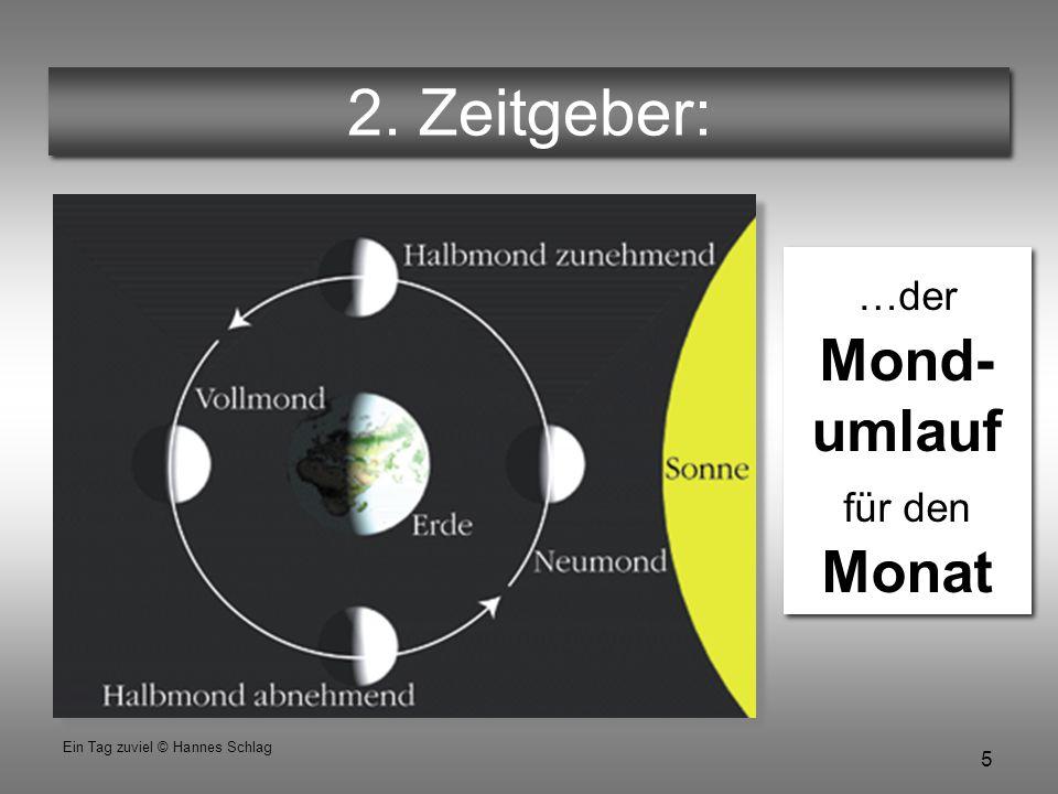 26 Ein Tag zuviel © Hannes Schlag Erste Entdeckung Das ist der Grund, warum Ostern bei Vollmond stattfindet.