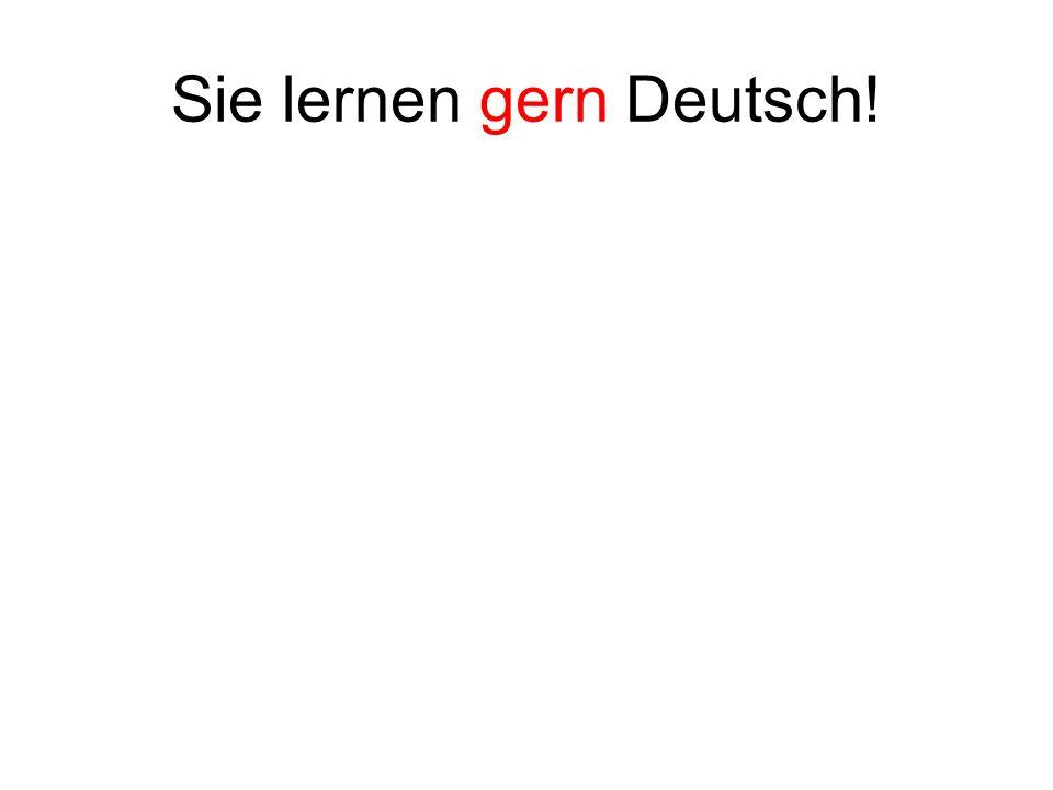 Sie lernen gern Deutsch!