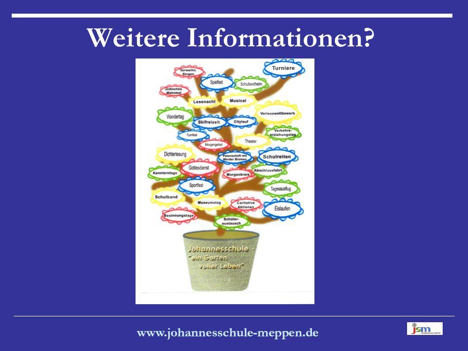 www.johannesschule-meppen.de Weitere Informationen