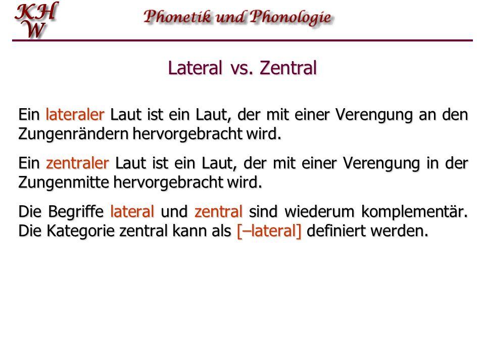 Lateral vs. Zentral Zunge Munddach Laterale Öffnung Zentrale Öffnung