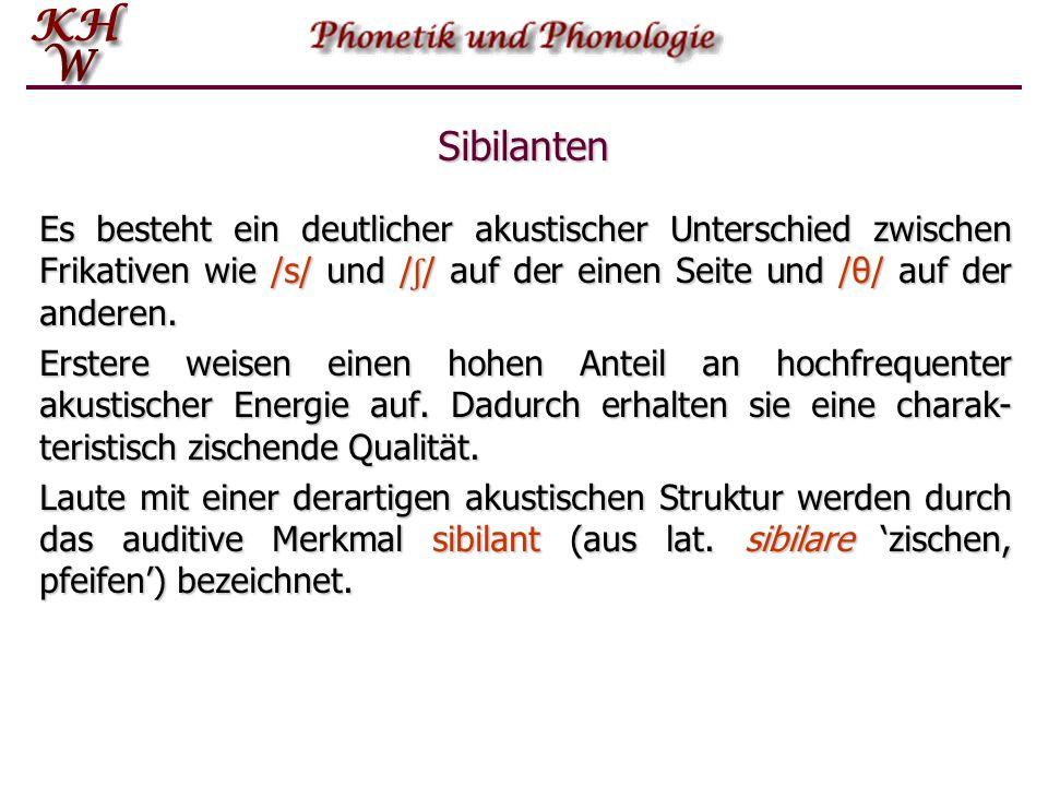 Lateral Im Englischen und Deutschen gibt es nur jeweils ein laterales Phonem, nämlich /l/.