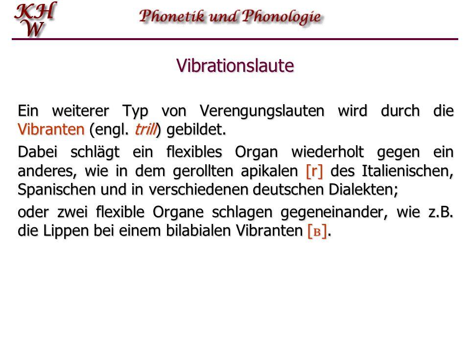 Einführung in die Phonetik und Phonologie   Artikulations-Prozess: Teil 2
