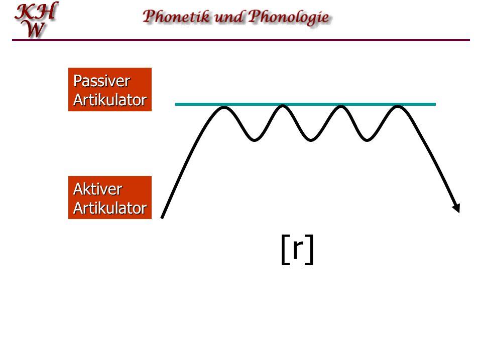 Aktiver Artikulator Passiver Artikulator [r]