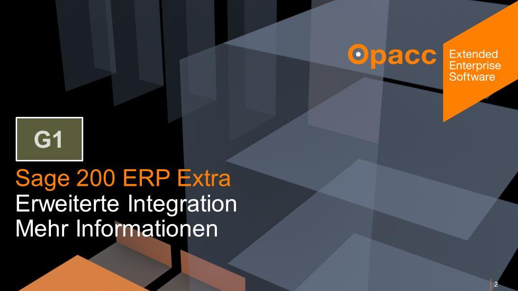 Sage 200 ERP Extra Erweiterte Integration Mehr Informationen 2 G1
