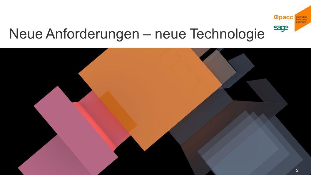 Opacc, CH-Kriens/LucerneOpaccConnect 201430.10.2014 5 Neue Anforderungen – neue Technologie