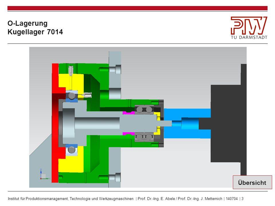 Institut für Produktionsmanagement, Technologie und Werkzeugmaschinen | Prof. Dr.-Ing. E. Abele / Prof. Dr.-Ing. J. Metternich | 140704 | 3 O-Lagerung