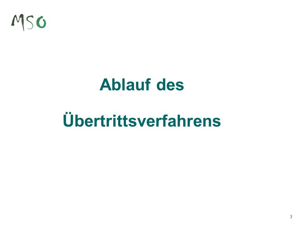 24 Übertritt MSO – OSH 2 1 / 2 Jahre Sommer 16 Januar 17 Sommer 17 Januar 16 5676 Start ÜbertrittsverfahrenBeurteilungsbericht 5.