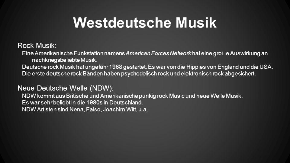 Westdeutsche Musik Rock Musik: Eine Amerikanische Funkstation namens American Forces Network hat eine groe Auswirkung an nachkriegsbeliebte Musik.
