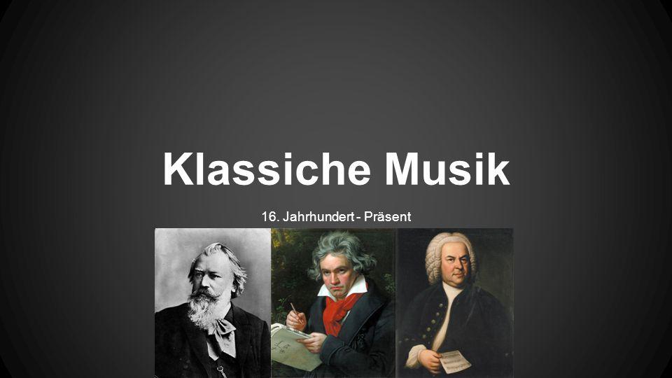 Klassiche Musik 16. Jahrhundert - Präsent