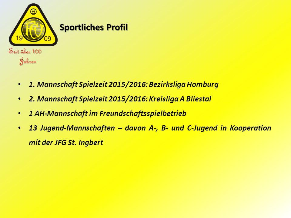 Sportliches Profil Sportliches Profil Seit über 100 Jahren 1. Mannschaft Spielzeit 2015/2016: Bezirksliga Homburg 2. Mannschaft Spielzeit 2015/2016: K