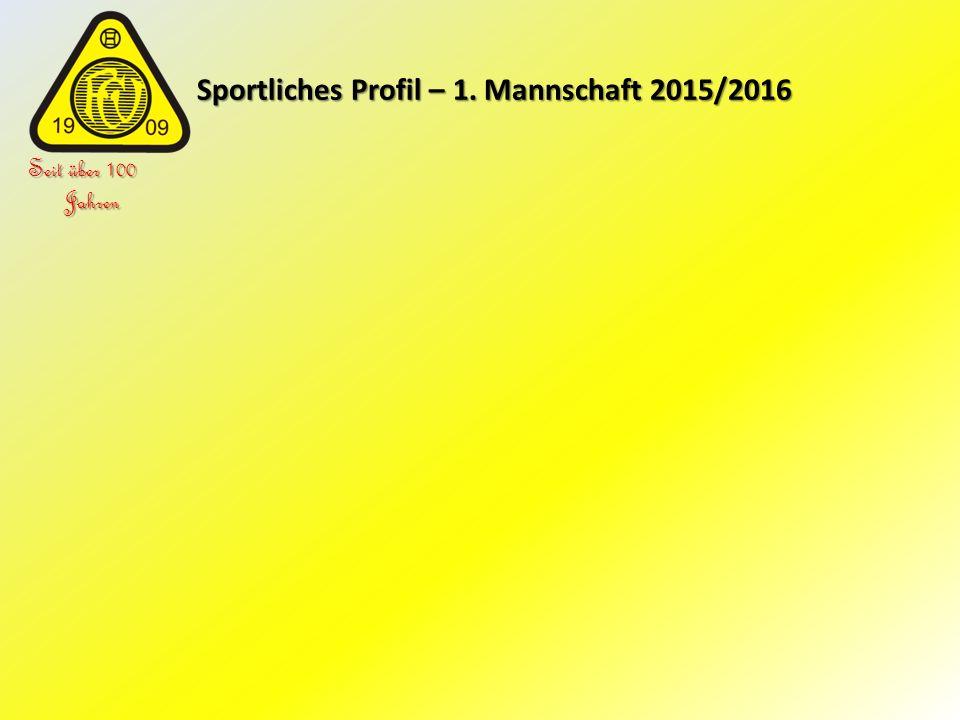 Sportliches Profil – 1. Mannschaft 2015/2016 Sportliches Profil – 1. Mannschaft 2015/2016 Seit über 100 Jahren