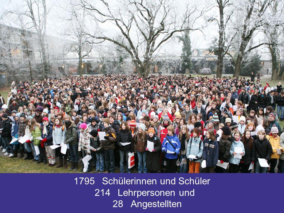 1795Schülerinnen und Schüler 214Lehrpersonen und 28Angestellten