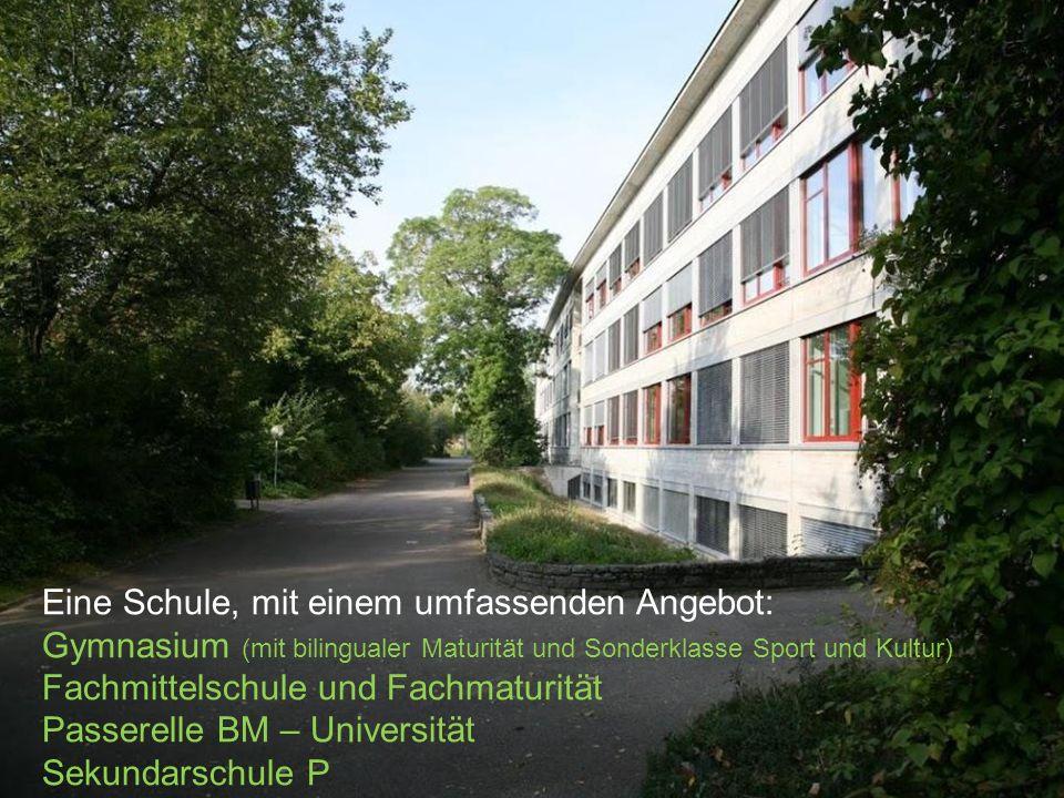 KS Solothurn KSSO Stefan Zumbrunn-Würsch, Direktor Eine Schule, mit einem umfassenden Angebot: Gymnasium (mit bilingualer Maturität und Sonderklasse S