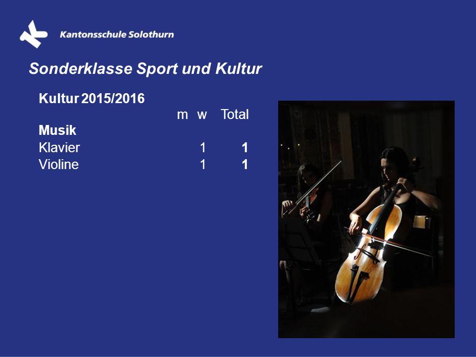 Sonderklasse Sport und Kultur Kultur 2015/2016 mwTotal Musik Klavier11 Violine11