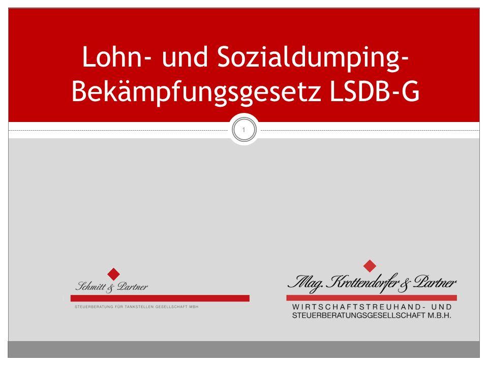 Lohn- und Sozialdumping- Bekämpfungsgesetz LSDB-G 1