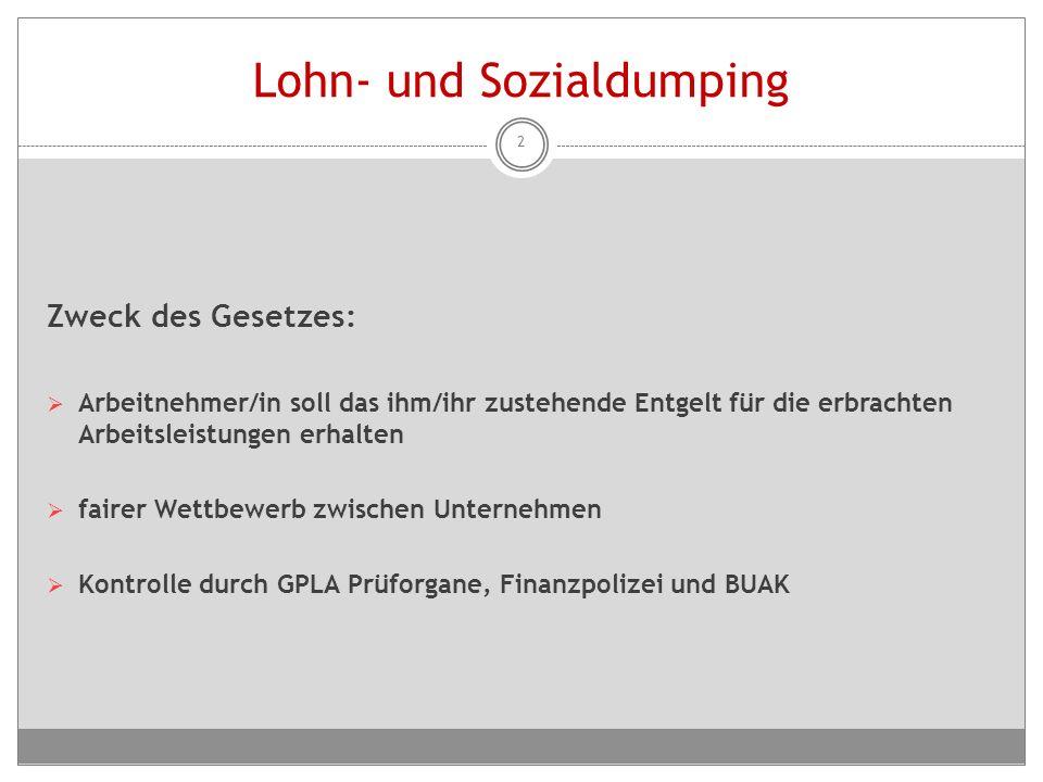 Überprüfung der Arbeitszeitbestimmungen  Arbeitsinspektorate, GPLA-Prüfung, Arbeiterkammern  betreffen insb.