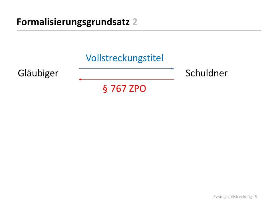 Formalisierungsgrundsatz 3 Vollstreckungstitel Gläubiger Schuldner § 771 ZPO Eigentümer Zwangsvollstreckung - 10