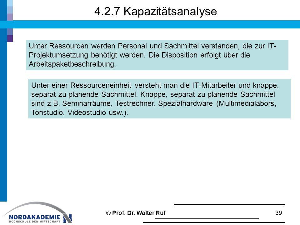 4.2.7 Kapazitätsanalyse 39 Unter Ressourcen werden Personal und Sachmittel verstanden, die zur IT- Projektumsetzung benötigt werden.