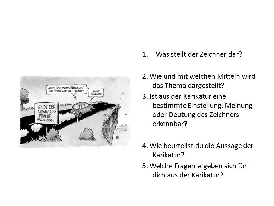 Karikaturen interpretieren 1.