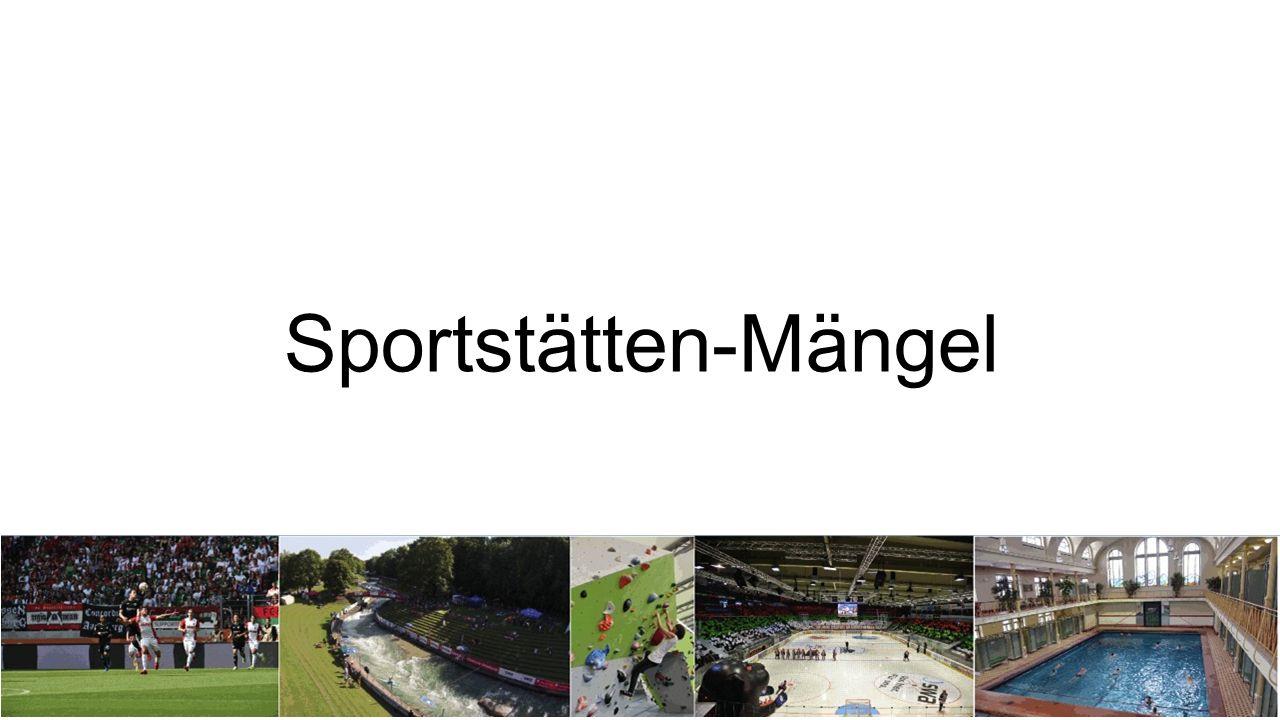 Sportstätten-Mängel