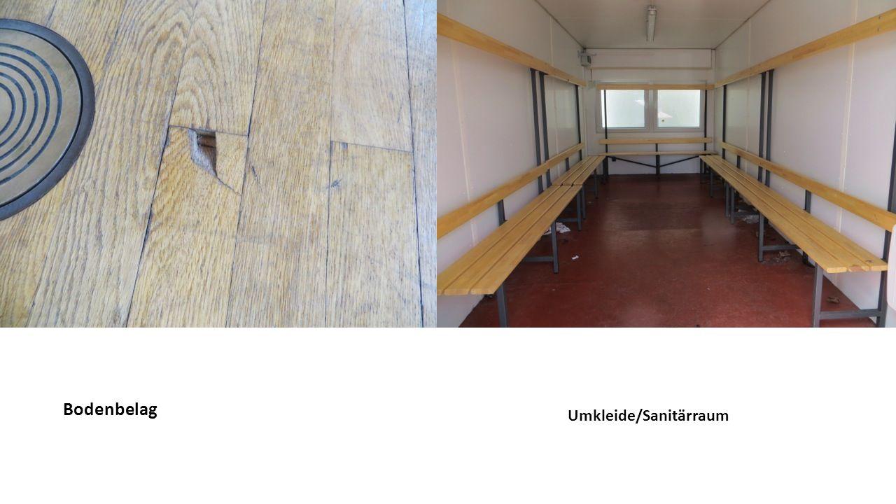 Bodenbelag Umkleide/Sanitärraum
