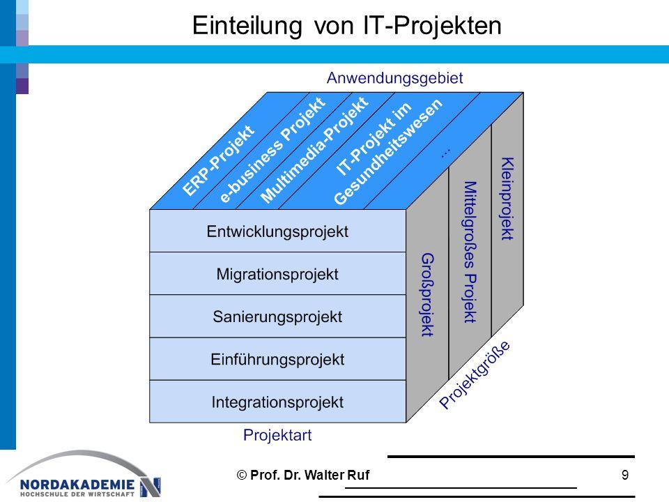 Einteilung von IT-Projekten 9© Prof. Dr. Walter Ruf