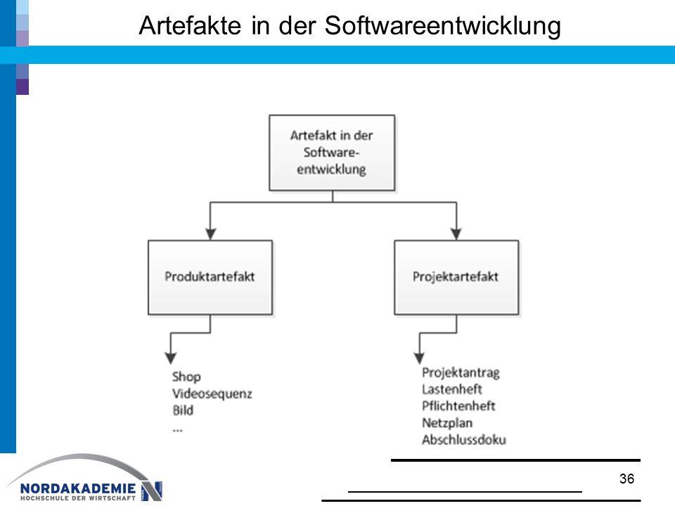 Artefakte in der Softwareentwicklung 36