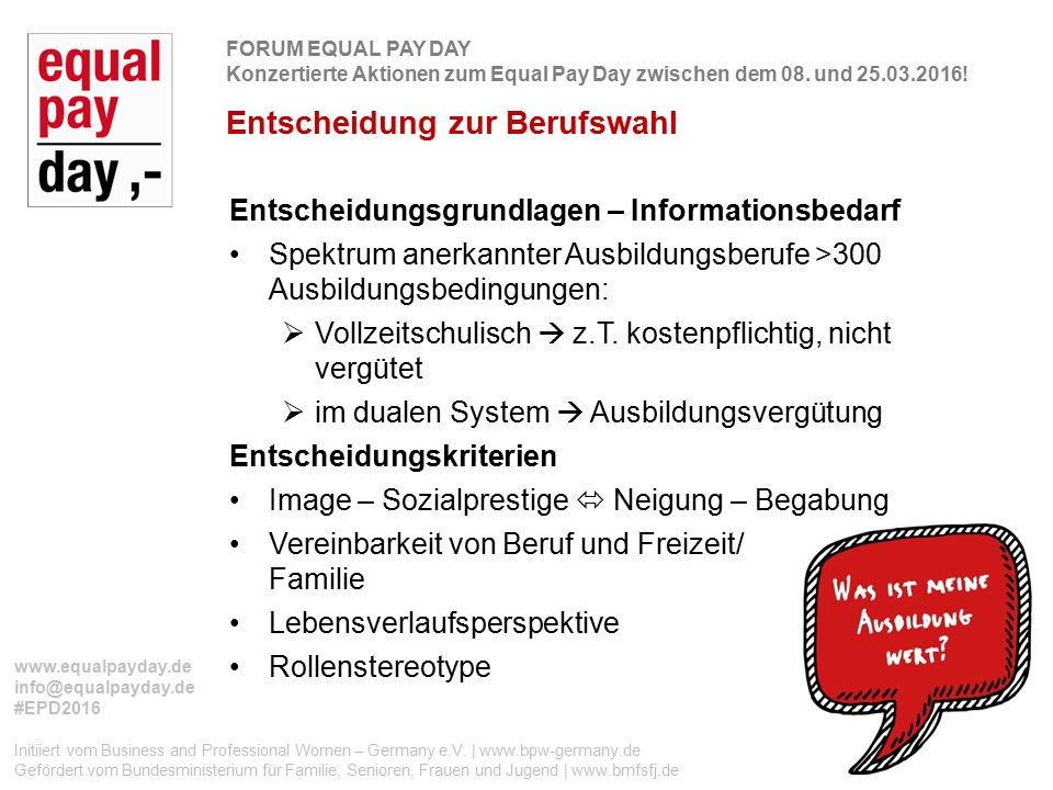 Initiiert vom Business and Professional Women – Germany e.V.
