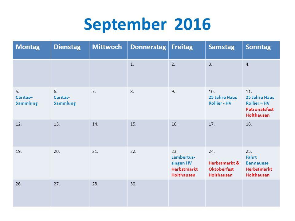 September 2016 MontagDienstagMittwochDonnerstagFreitagSamstagSonntag 1.2.3.4.