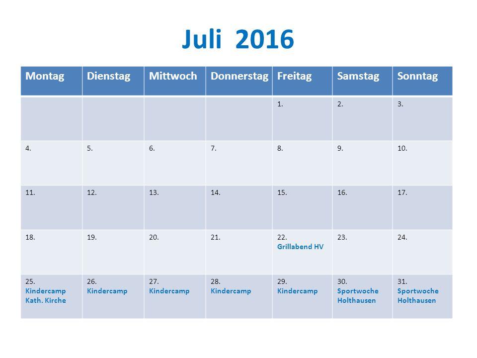Juli 2016 MontagDienstagMittwochDonnerstagFreitagSamstagSonntag 1.2.3.