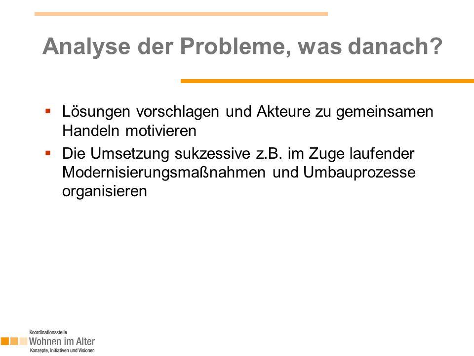 Analyse der Probleme, was danach.
