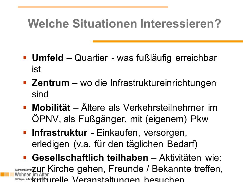 Welche Situationen Interessieren.