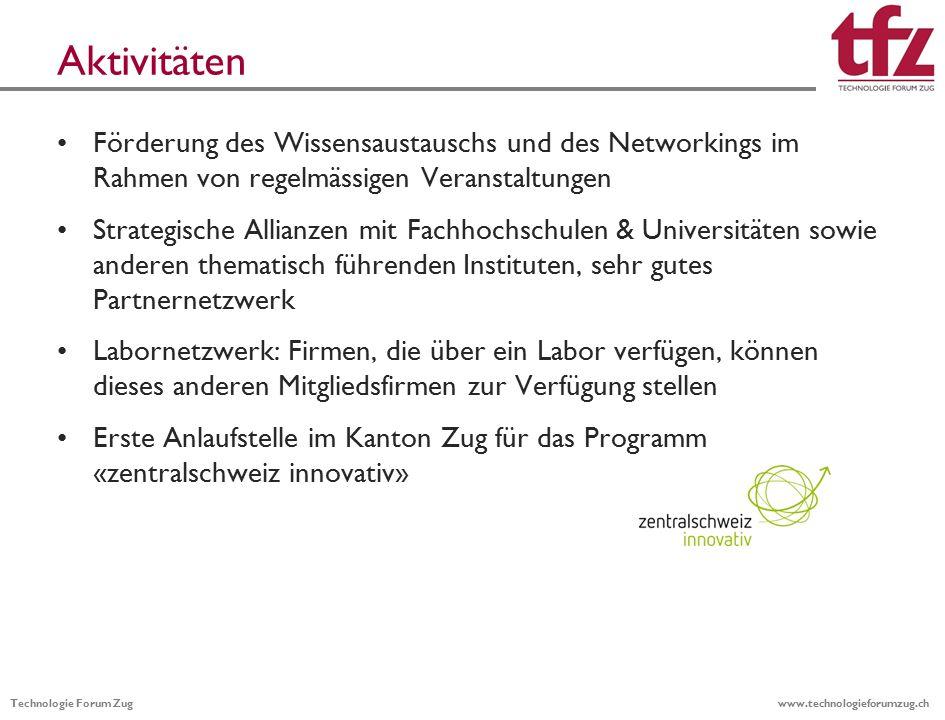 Technologie Forum Zug www.technologieforumzug.ch  www.technologieforumzug.ch 