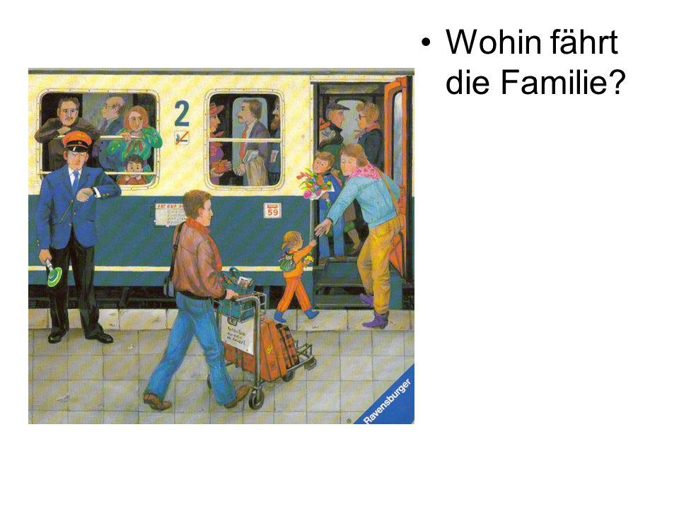 Wohin fährt die Familie?