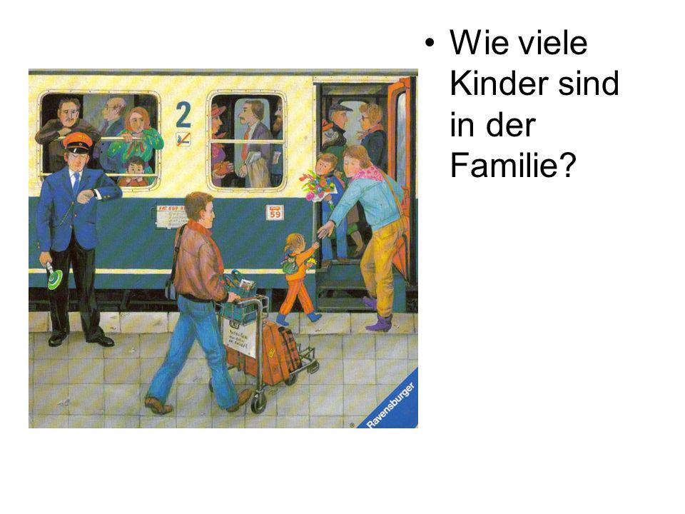 Wie viele Kinder sind in der Familie?