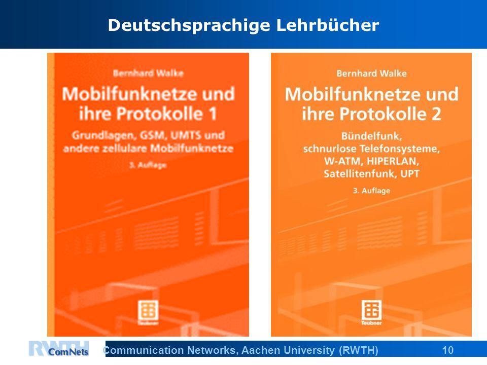 10Communication Networks, Aachen University (RWTH) Deutschsprachige Lehrbücher