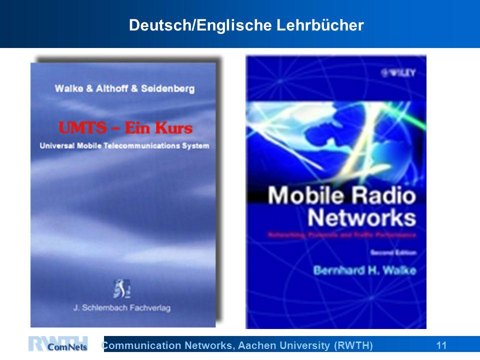 11Communication Networks, Aachen University (RWTH) Deutsch/Englische Lehrbücher